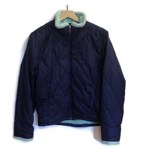 Women's LLBean Quilted Jacket with Terry Fllece